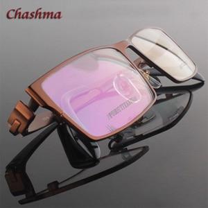 Image 4 - สุภาพบุรุษหน้ากว้างไทเทเนียมบริสุทธิ์แว่นตากรอบแว่นตา Full Rimmed Gafas แว่นตาแว่นตา