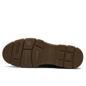 Image 5 - Camiseta nueva de piel auténtica para hombre, zapatos casuales antideslizantes y resistentes al desgaste con textura mate cómoda y ligera de tendencia de negocios para hombre