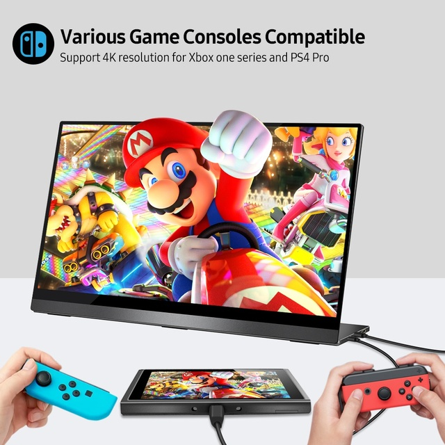 """UPERFECT 4K Portable Monitor Touchscreen 15.6"""" UHD 3840x2160 Computer Second Display Gaming Screen for Phone Nintendo Xbox PS4"""
