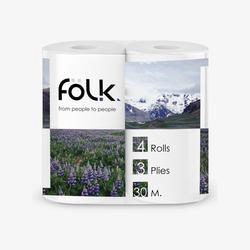 Carta igienica FOLK 3 strati-4 pcs per pacchetto 27 metri 100% di cellulosa