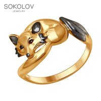 Ring «Fox» SOKOLOV fashion jewelry silver 925 women's male