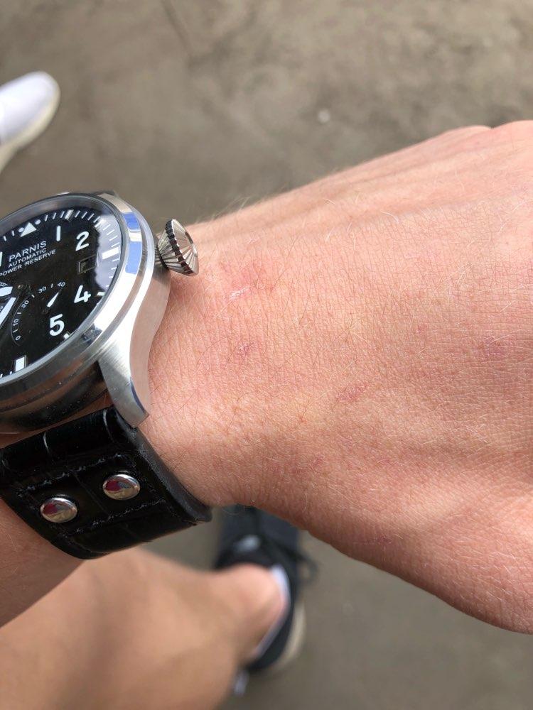 Relógios mecânicos reserva energia parnis