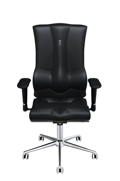 Office Chair KULIK SYSTEM ELEGANCE Black Computer Chair Relief And Comfort For The Back 5 Zones Control Spine