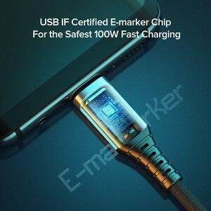 INIU 5A кабель-Переходник USB C на кабель Type-C PD 100W USB Type-C для быстрой передачи данных и зарядки шнур для Xiaomi mi 11 10 Huawei P30 Samsung Macbook Pro