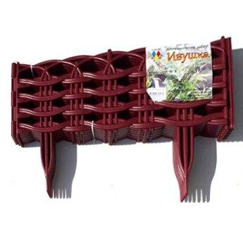Забор декоративный Ивушка цвета в ассортименте 3м 8 секций 38*24см БОРДО