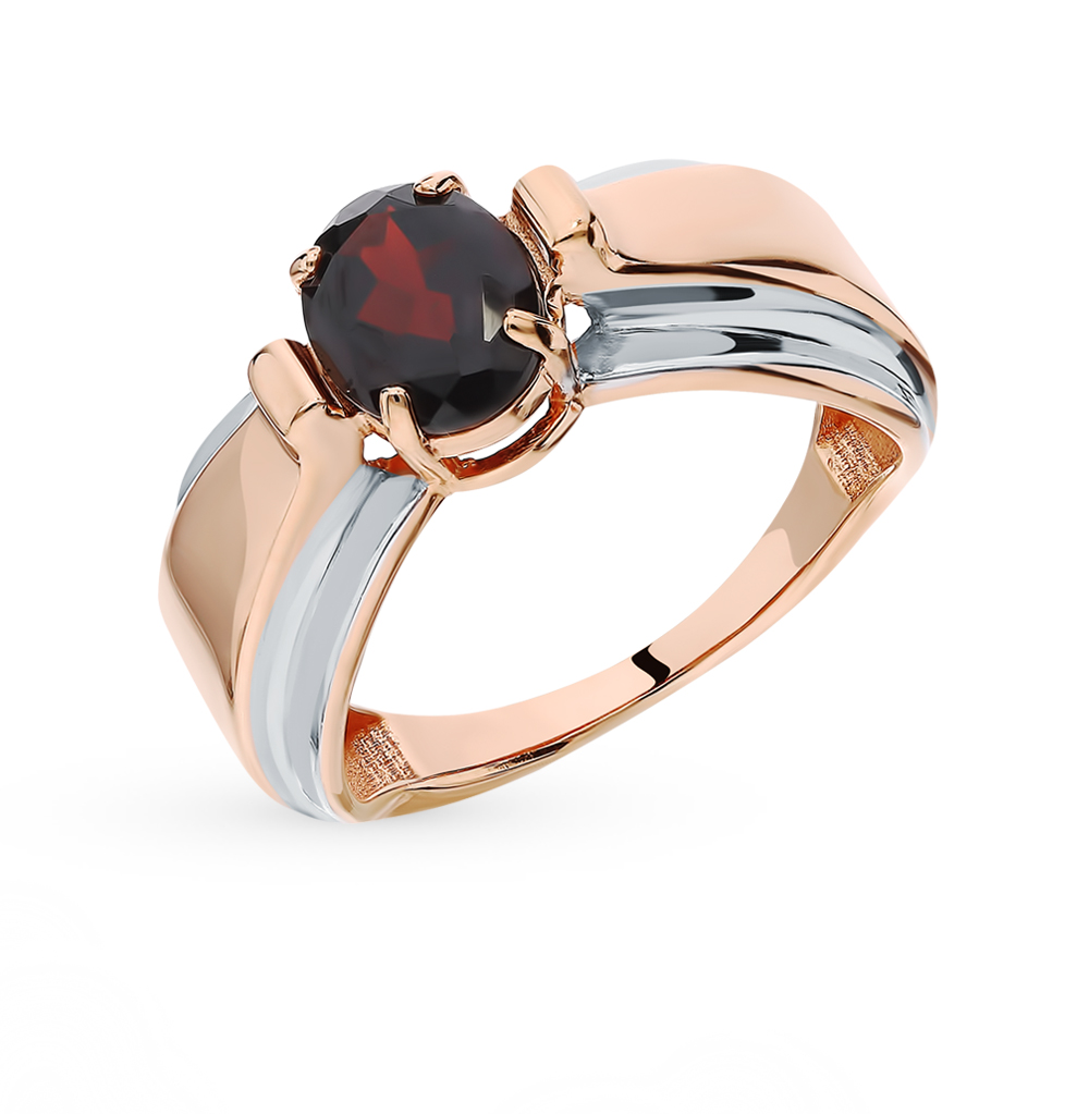 Gold Ring With Garnet SUNLIGHT Test 585