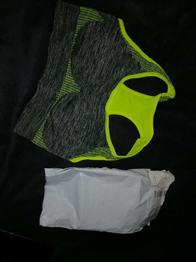Woman's Padded Push Up Sports Bra photo review