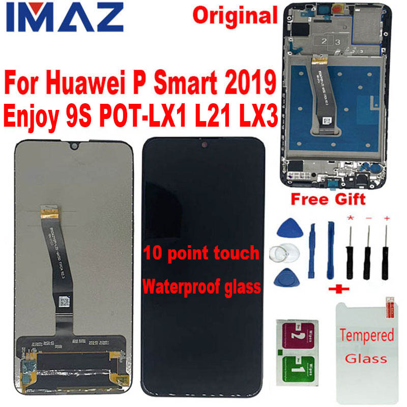 IMAZ Original For Huawei P Smart 2019 LCD Display With Touch Screen Digitizer Assembly For Enjoy 9S POT-LX1 L21 LX3 Repair Part