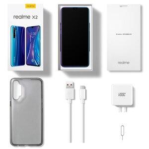 Image 5 - OPPO Realme X2 X2 6.4 워터 드롭 스크린 Snapdragon730G NFC Celular 4000mAh 빅 배터리 64MP 쿼드 카메라 Super VOOC Smartphone