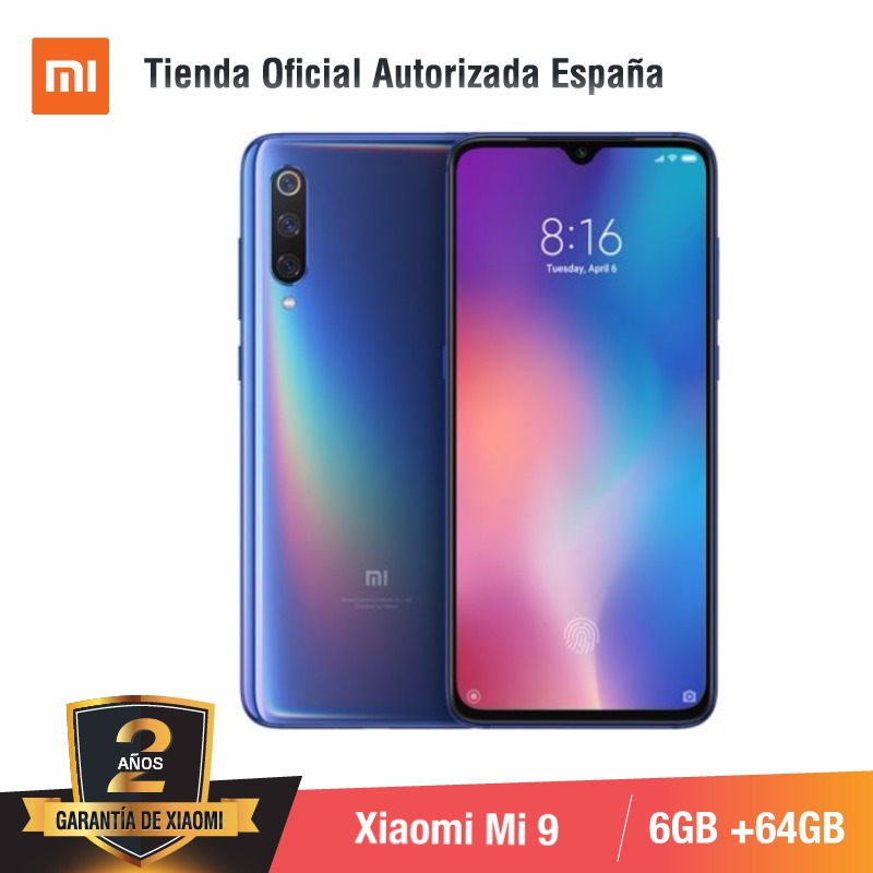 Version mondiale pour l'espagne] Xiao mi mi 9 (memia interna de 64 go, RAM de 6 go, Triple camara de 48 MP) smartphone