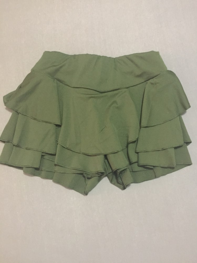 Summer High Waist Layered Ruffled Frill Shorts Femmes Brief Solid Slim Mini Skirt Shorts Streatwear For Women photo review