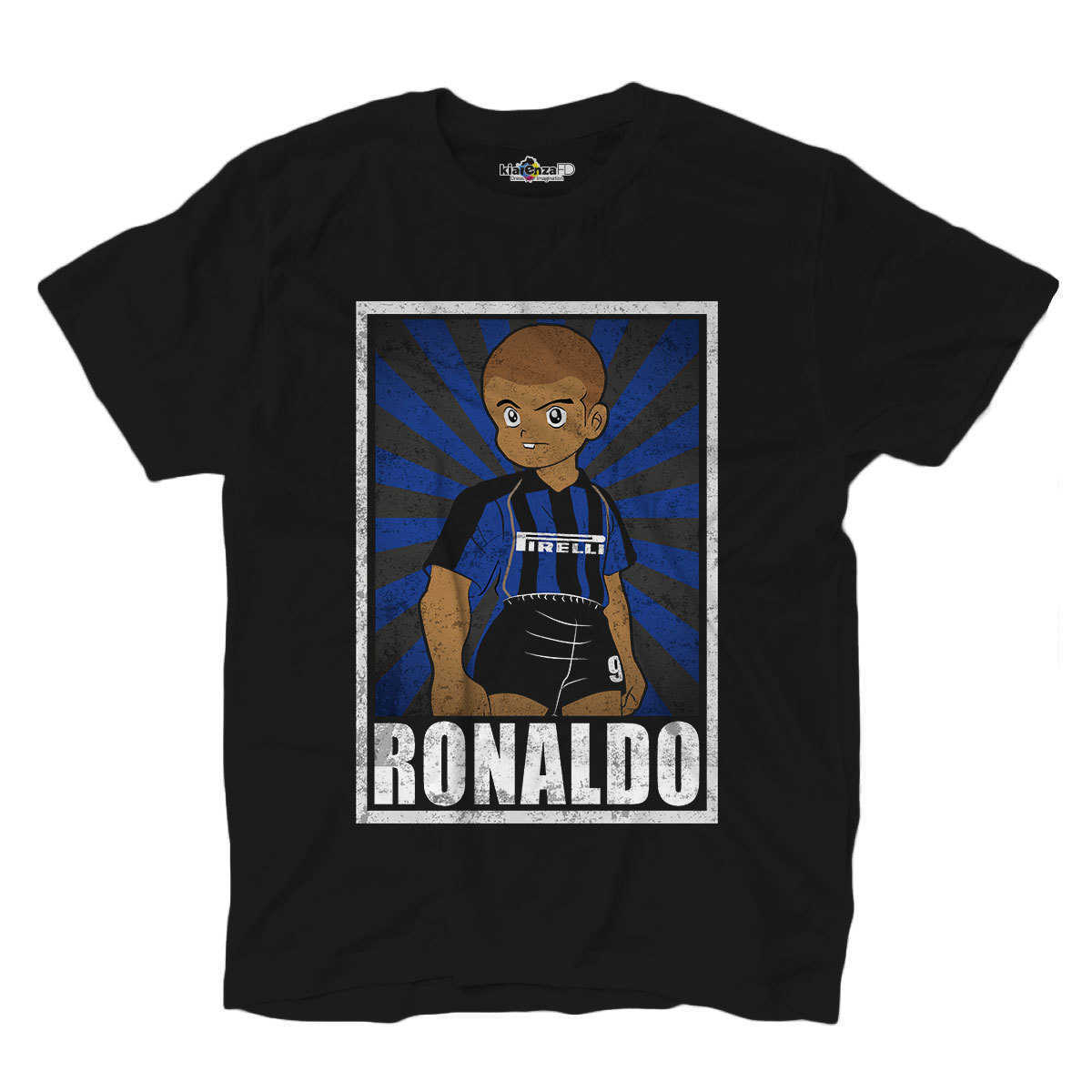 Football <font><b>T</b></font>-<font><b>shirt</b></font> <font><b>T</b></font> <font><b>Shirt</b></font> Vintage Ronaldo <font><b>Inter</b></font> <font><b>Milan</b></font> Legend Spoof Holly and Benji Grunge S image