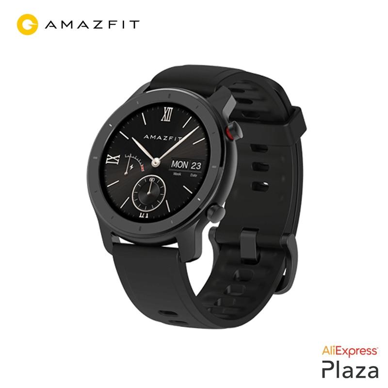 Xiaomi Huami Amazfit GTR 42mm Smartwatch (montre intelligente, Bluetooth, GPS, bague de lunette en céramique, sport) [Version mondiale]