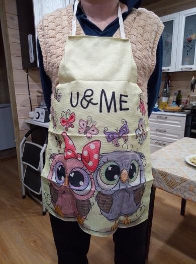 Design Kitchen Owl Sleeveless Chef Apron photo review