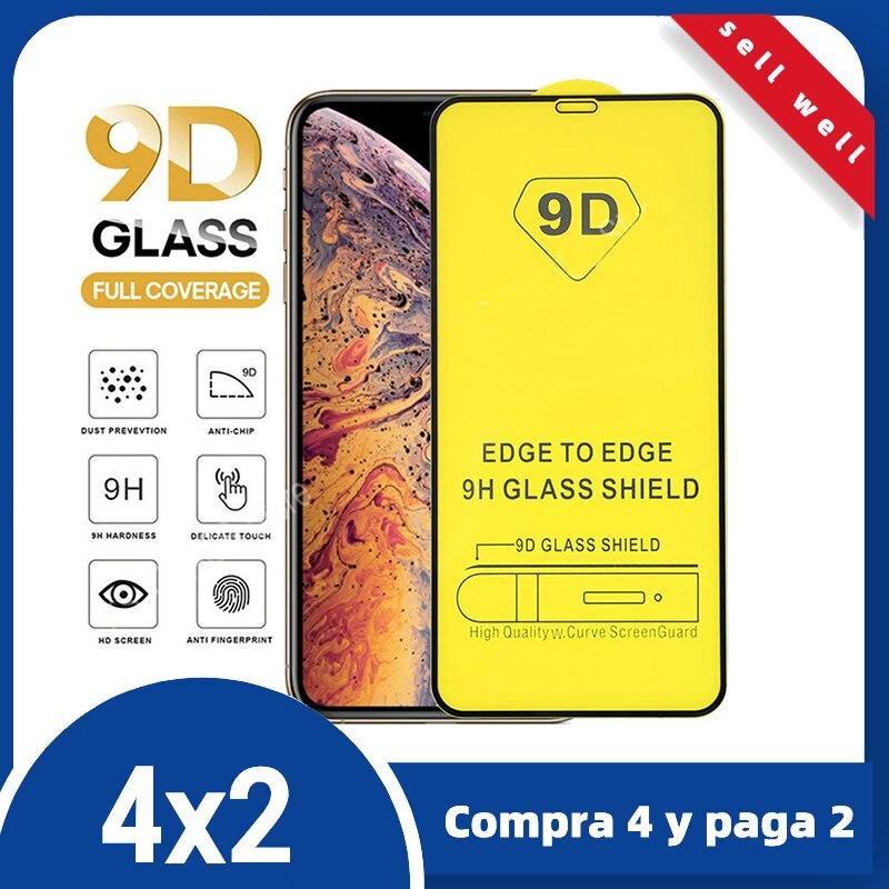 9D с украшением в виде кристаллов, Защитное стекло для iPhone 11 12 Pro Max XS XR 7 6 6s Plus протектор экрана из закаленного стекла для iPhone X закаленное стекл...