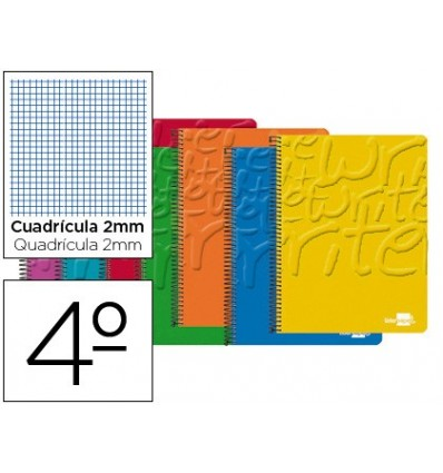 SPIRAL NOTEBOOK LEADERPAPER ROOM WRITE SOFTCOVER 80H 60 GR GRAPH 2MM ASSORTED COLORS 10 Pcs