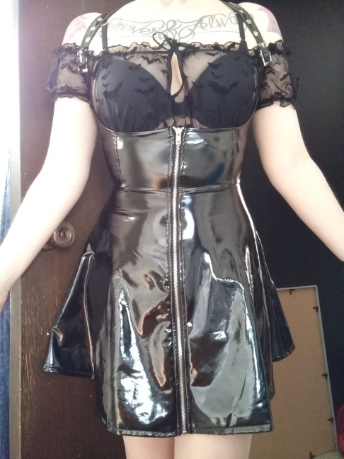 Black Leather Skirt with corset and straps photo review