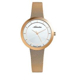 Reloj de mujer a3499.9113q para pulsera de acero inoxidable con recubrimiento de PVD rosa, cristal mineral, luz solar