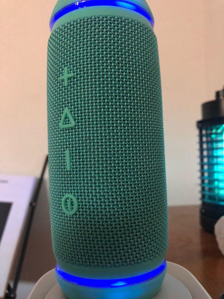 BassTube Altavoz portátil Bluetooth con Sonido 360º, True Wireless (12 W, Resistente al Agua)