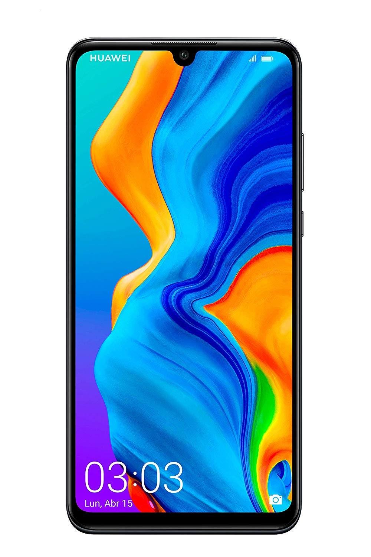 Huawei P30 Lite, Dual SIM, Black Color (Black), Internal 128 GB De Memoria, 4GB Ram, Screen 6.15