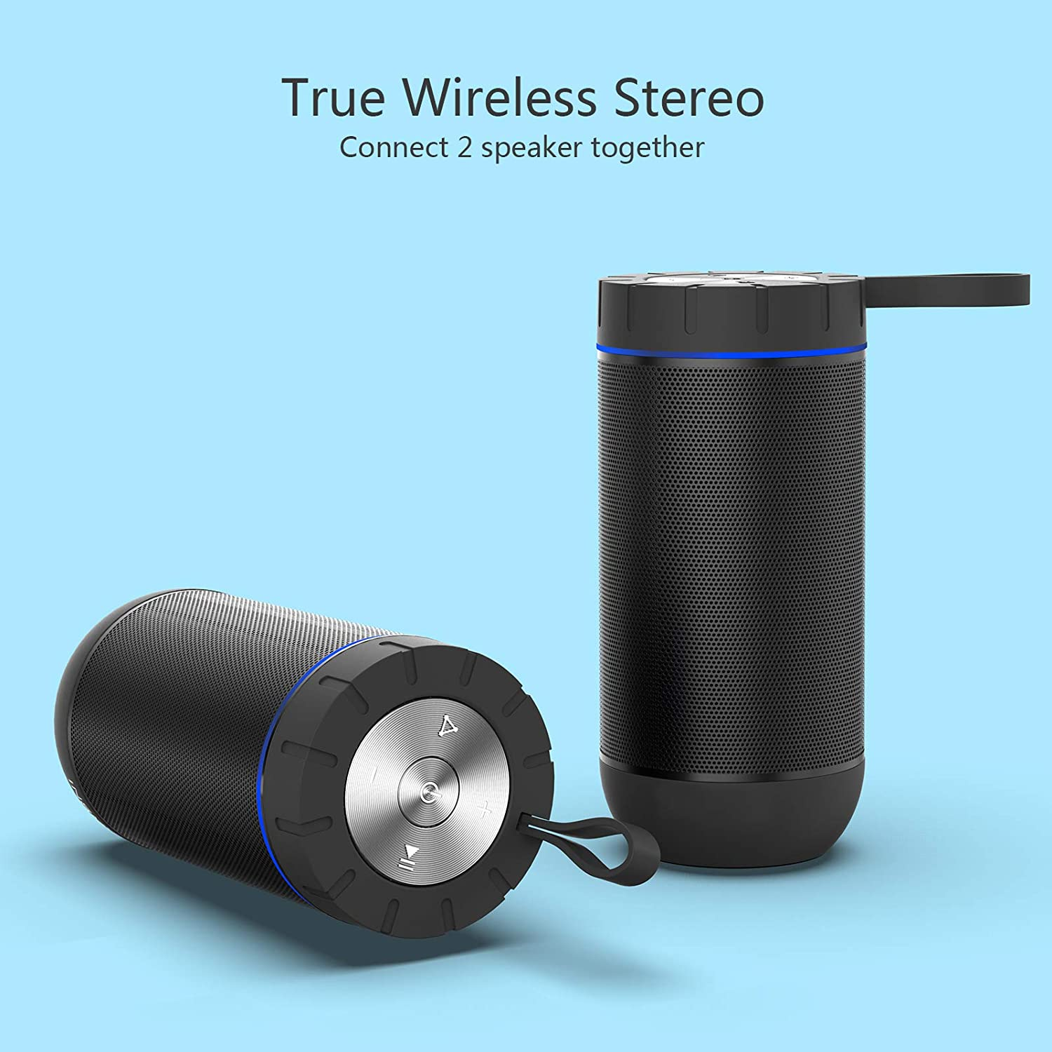 COMISO Waterproof Bluetooth Speakers Outdoor Wireless Portable Speaker with 20 Hours Playtime Superior Sound speaker for iphone 4