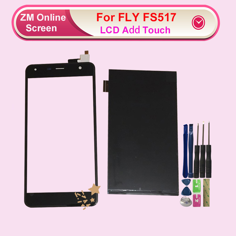 RYKKZ For Fly Fs517 Cirrus 11 FS 517 LCD Add Touch Screen Digitizer Assembly Replacement
