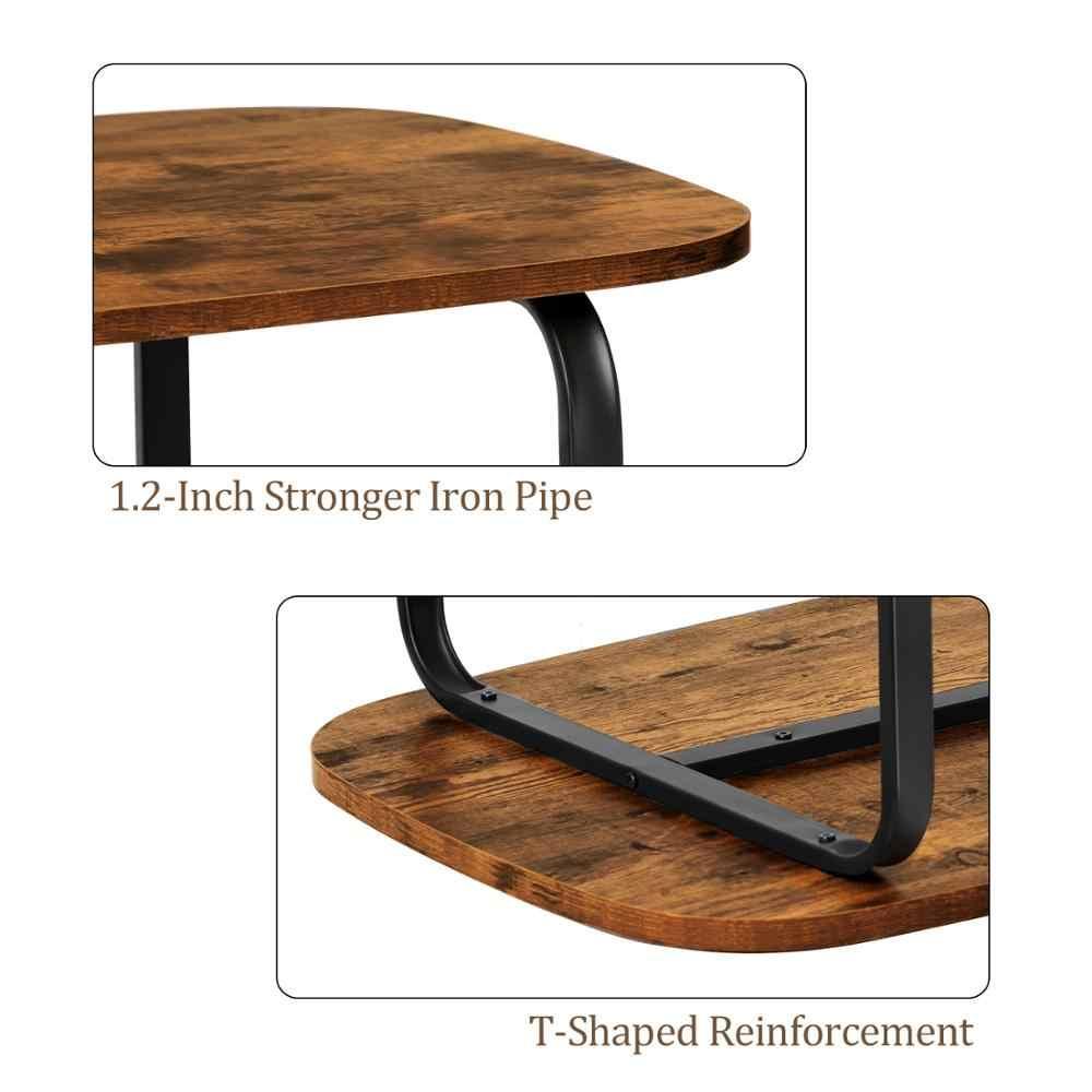 Oval Coffee Table With Storage Shelf
