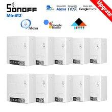 SONOFF – Mini commutateur Wifi avec minuteur, 30 pièces, domotique intelligente, Compatible avec eWelink Alexa Google Home