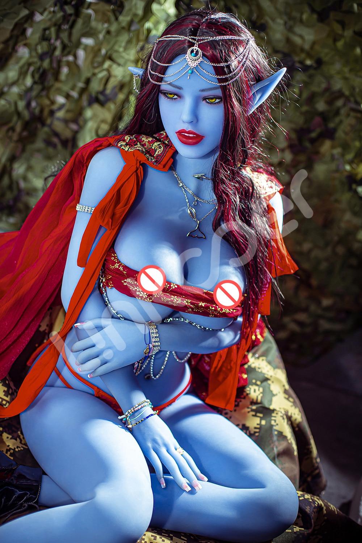 Ub9602980d7c3459982e9fb2ae77d3afcK Linkooer-Muñeca sexual de silicona para hombres adultos, juguete de belleza de elfo azul de 158cm, con ano realista, Vaginal y Oral