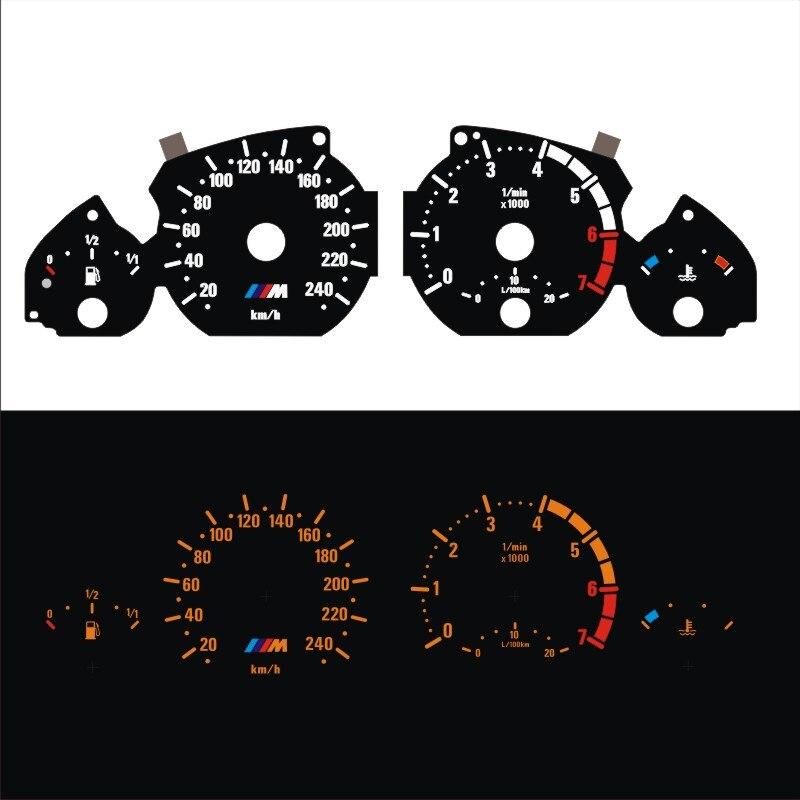 Тире 7000 об/мин EL светящийся датчик для 3 серии E46 бензиновый обратный светящийся оранжевый свет
