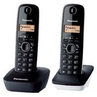 Telefone sem fio panasonic KX-TG1612SP1 preto branco (2 peças)