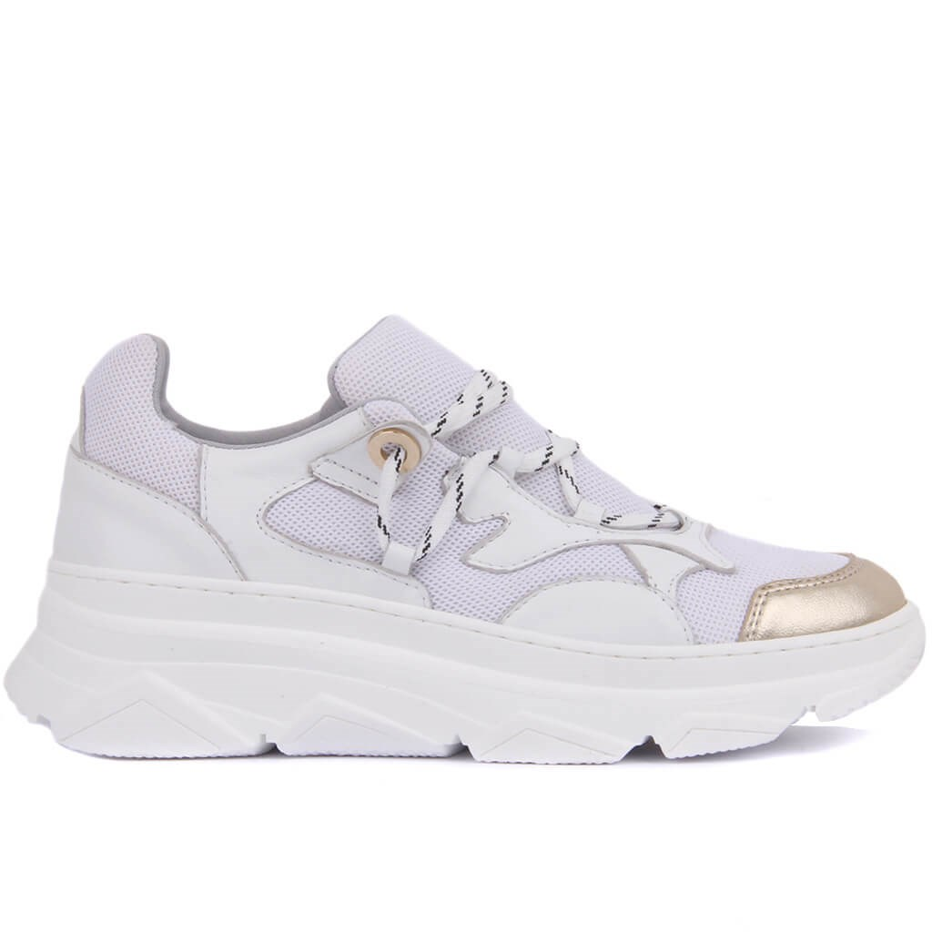 Sail-Lakers White Leather Women 'S Sneaker