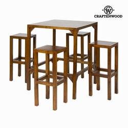 Wysoki stół z 4 stołkami kolekcja Franklin Craftenwood| |   -
