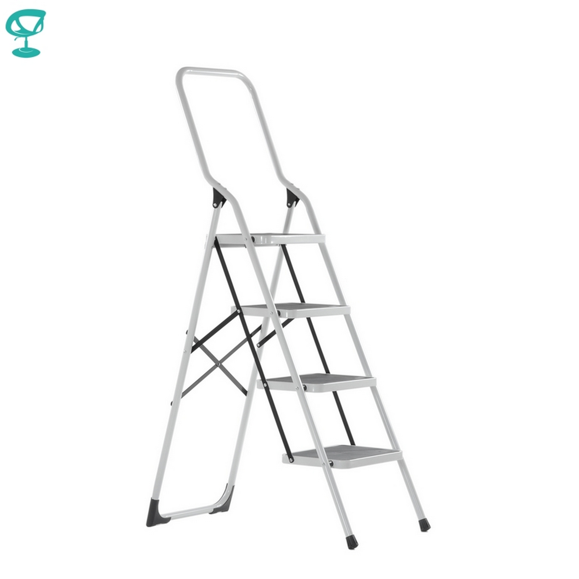 95671 Barneo ST-14 Ladder Steel 4 Stage White Single Side Max Load 150 Kg Free Shipping To Russia