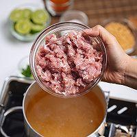 泰国美食酸辣猪肉沫汤的做法图解3