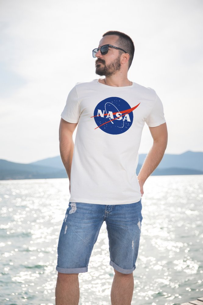 Angemiel Wear Nasa Logo Cotton White Men 'S T-Shirt