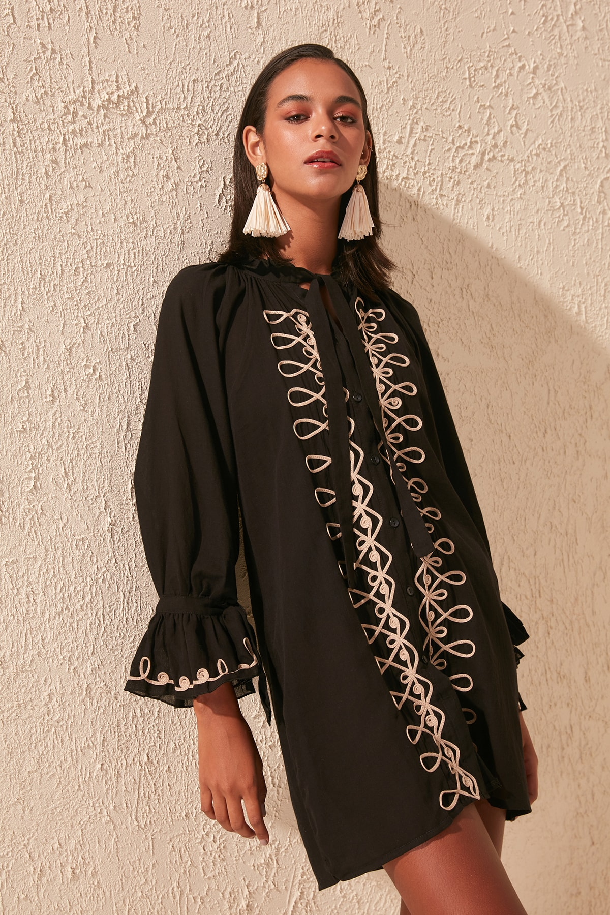 Trendyol Embroidered Voile Dress TBESS20EL0869