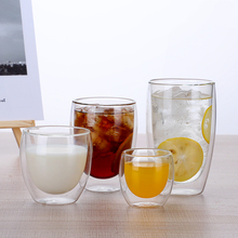 New 80/250/350/450ML Handmade Heat Resistant Double Wall Glass Tea Drink Cup Healthy Mug Coffee Insulated Clear