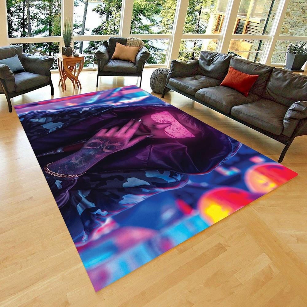 Cyberpunk Non Slip Floor Carpet, Teen's Carpet()