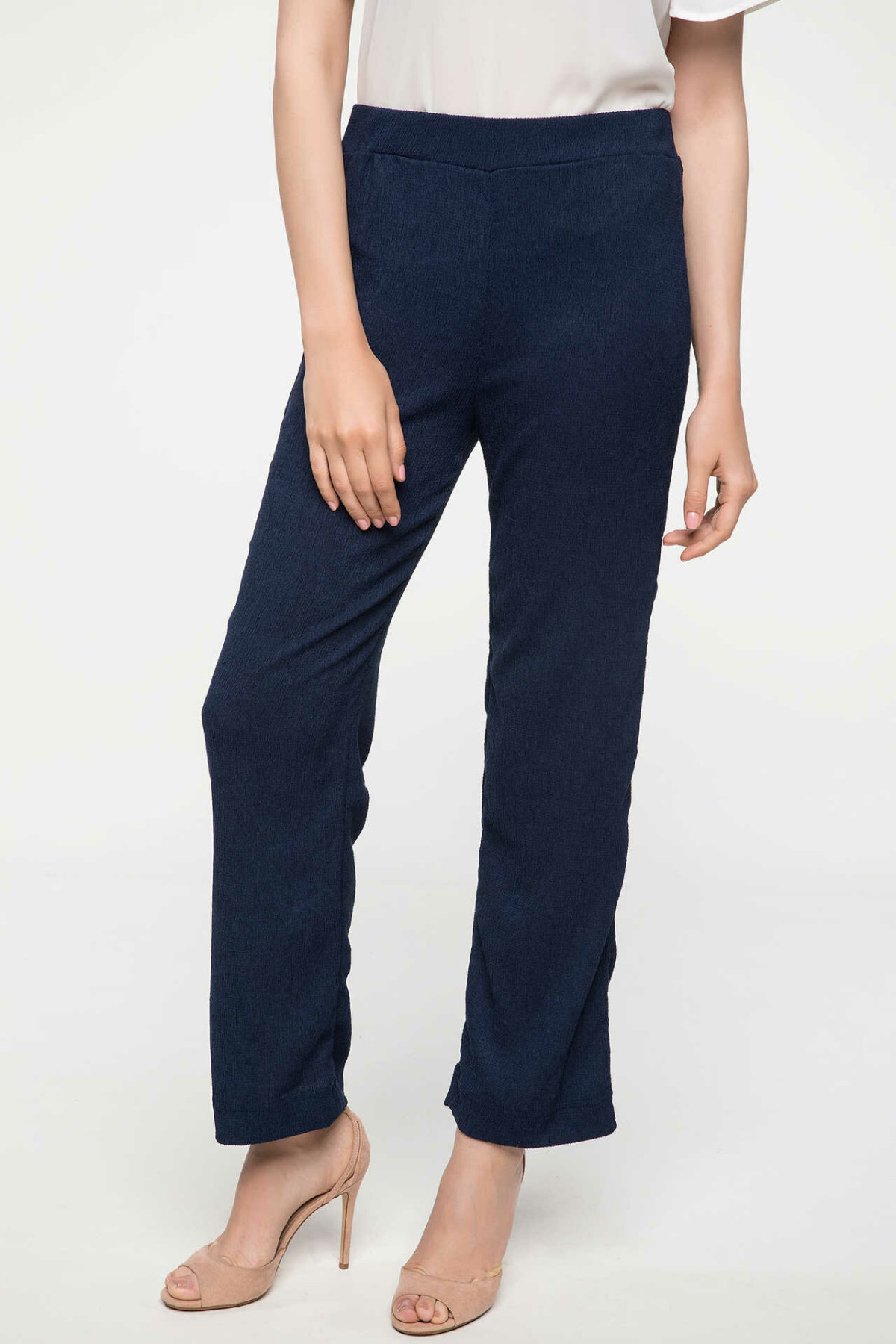 DeFacto Women Fashion Joker Trouser Ladies Casual High Elastic Straight Pants Female Casual High Quality Long Pants-J4825AZ18SM