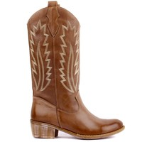Sail Lakers Mink Leather Embroidered Women Boots