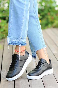 Różowe Potin damskie czarne buty A1603-20 tanie i dobre opinie Pembe Potin Oksfordzie TR (pochodzenie) Sztuczna skóra Gumką Pasuje prawda na wymiar weź swój normalny rozmiar Na co dzień
