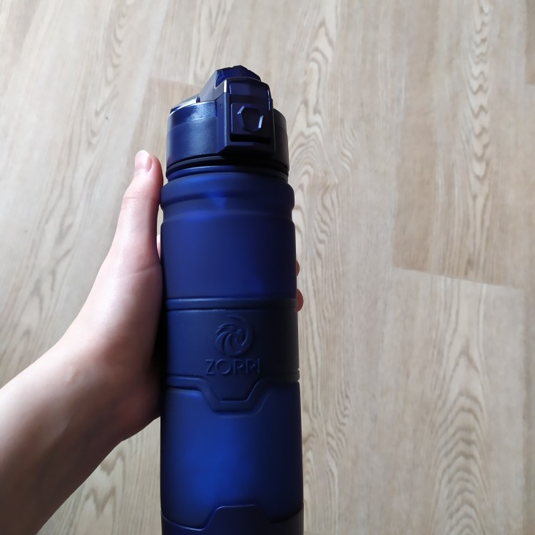 ZORRI Drak Blue Sports Water Bottle Best Reusable Protein Shaker Bpa Free Water Bottle Hiking Cycling Gym Bottle botella de agua-in Water Bottles from Home & Garden on AliExpress