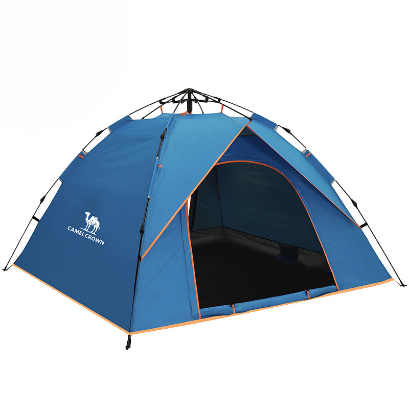 KAMEL 3-4 Personen Einzigen Schicht Frühling-geladen Automatische Zelt Outdoor Camping Wandern Reise Zelt Wasserdichte Große Familie zelte