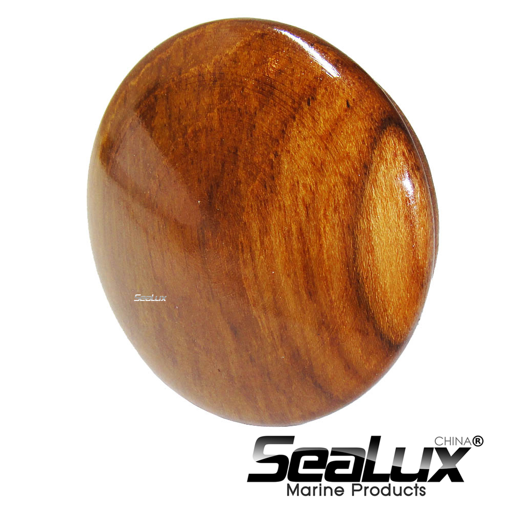 Sealux 2-1/2 Inch Teak Boat Steering Wheel Center Cap High Strength Boat Accessories Marine Easy To Install