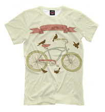 Males's T-shirt I like my bike