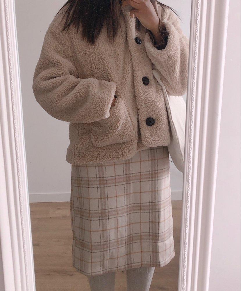 Vintage Plaid Women Skirts Autumn Plus Size Pencil Long Girls Skirt Female Vintage Warm Thick Skirts Winter Femme Faldas Mujer photo review