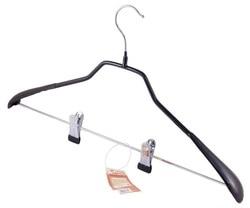10 stücke in einem set metall antislip kleiderbügel mit clips