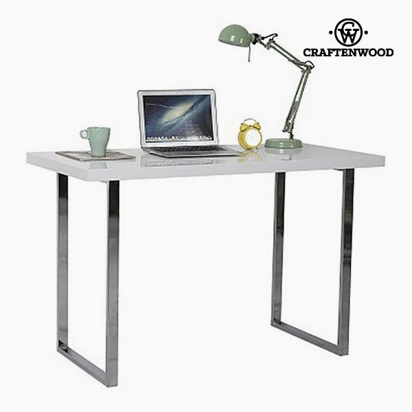 Desk (120 X 60 X 76 Cm) Chrome-plated Steel White