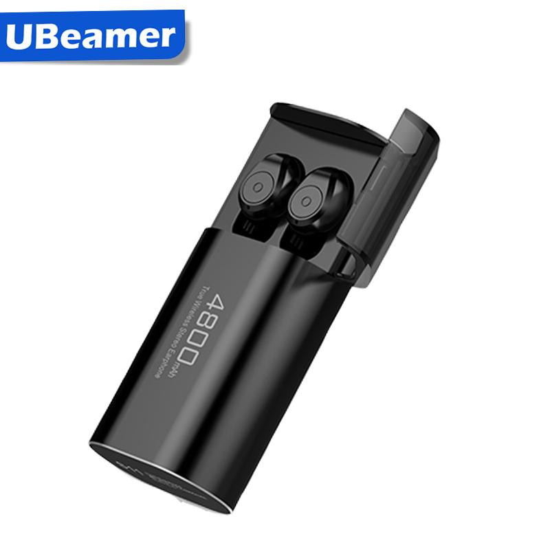 Ubeamer Portable TWS True Wireless Earbuds Bass Stereo Bilateral Call Earbud 5.0 Bluetooth In ear Earphones 4800mAh Power Bank|Bluetooth Earphones & Headphones| |  - title=